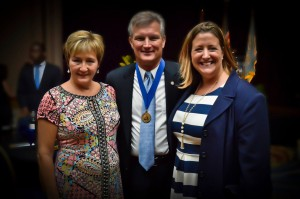 Peggy Layne, First Citizen Aubrey Layne, Jr. and event chair, Brooke Briggs